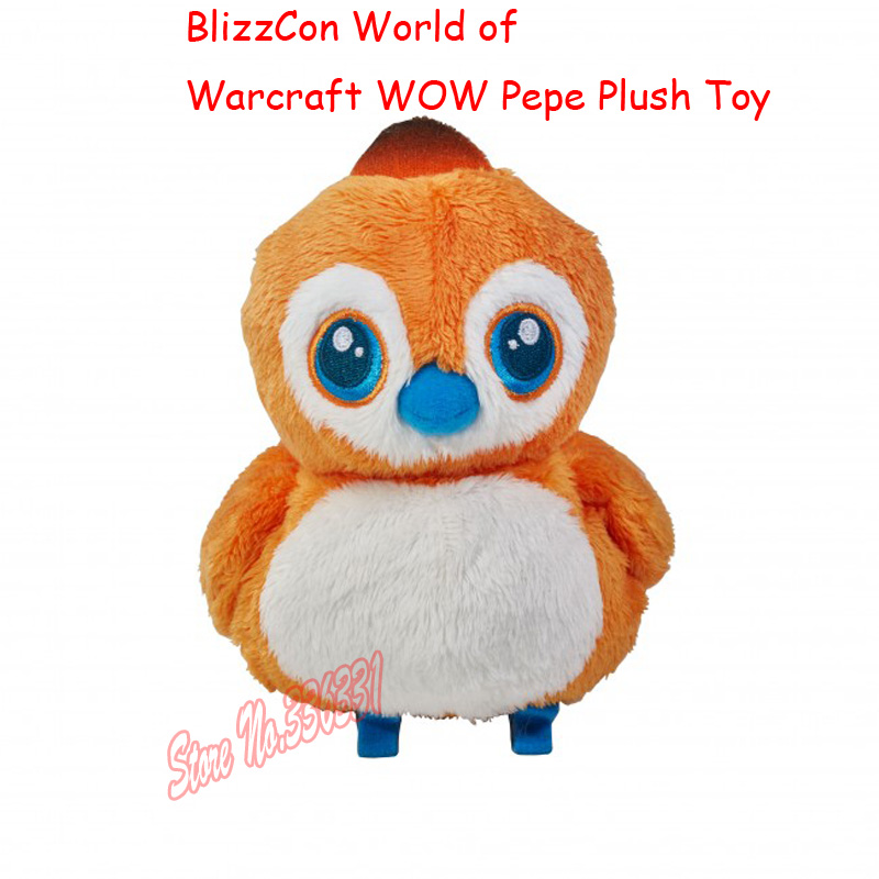 Hot Sell 2016 New 16cm BlizzCon World Of WOW Pepe Plush Toy Doll League Baby Gift Free Shipping(China (Mainland))