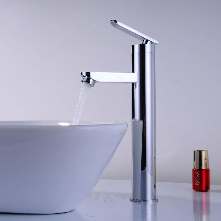 Solid Brass Chrome Water Tap Single Hole Basin Mixer Bathroom Sink Faucet torneira banheiro(China (Mainland))