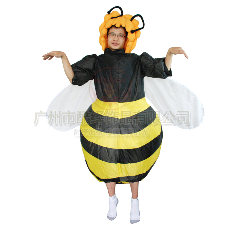 Adult Bee Inflatable Costume Party Halloween Christmas Xmas Funny animal costumes - kooy decoration co.,LTD store