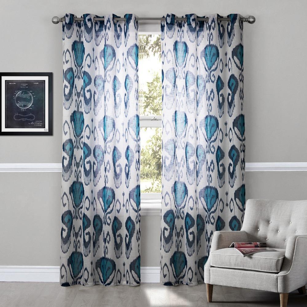 achetez en gros imprim g om trique rideaux en ligne. Black Bedroom Furniture Sets. Home Design Ideas