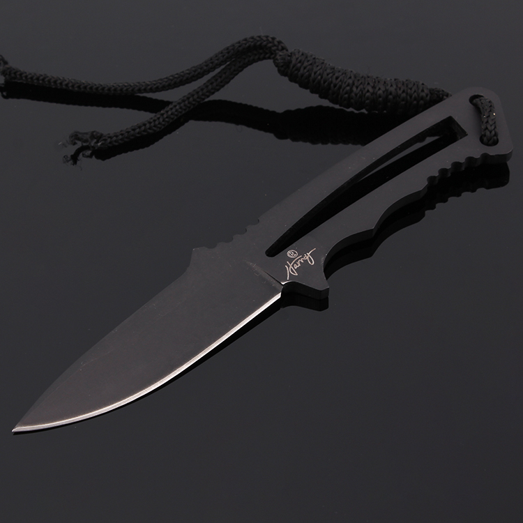 New Small Black Fixed Blade Knife Stainless Steel Knife Multi Function Classic Letter Opener Tool<br><br>Aliexpress