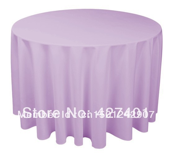 Hot sale 120 purple round table cloth polyester plain for 120 round table cover