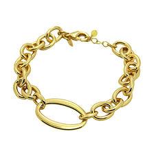 Trendy 2016 New Gold Plated Simple Famous Brand Bracelet Women Fashion Jewelry Metal Chain & Link Bracelets Bracelet Femme