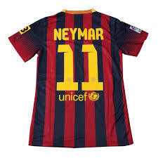 2013-2014 Spanish League home Soccer Jerseys QATAR AIRWAYS (player version) La Liga # 11 NEYMAR football Shirts - Cheap SoccerJersey store