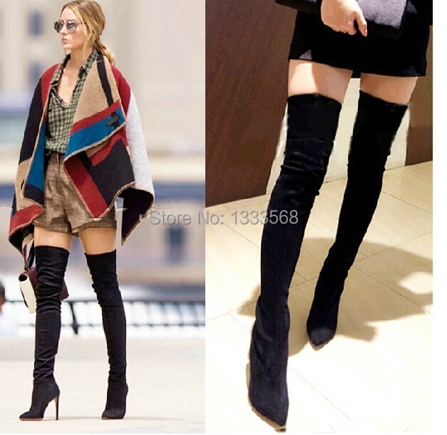 2014 Fashion Jackboots Over The Knee Boots For Women/Faux Suede ...