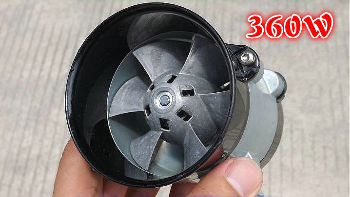 Metal culvert fan rotor brushless DC motor high speed turbo fan pneumatic hovercraft DIY vacuum cleaner motor accessories