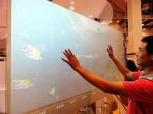 Fast  Shipping! 52 Inch Interactive touch foil through glass Truly 6 points capacitive projection foil film