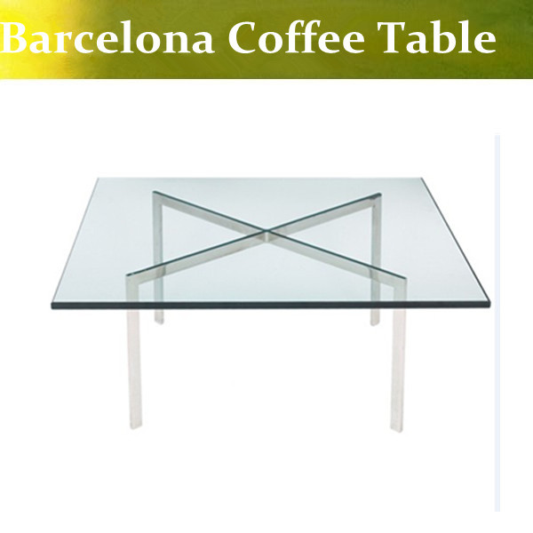 U Best High Quality Ludwig Mies Van Der Rohe Barcelona Coffee Table Modern Barcelona Sidetable