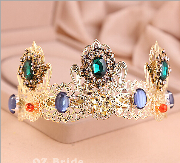 Can bend the golden crown. The Bride Wedding Jewelry Tiara Crown headband free shipping(China (Mainland))