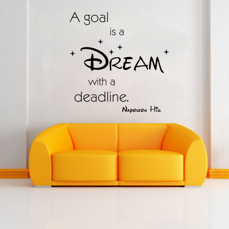 Dream plane wall decals quotes bedroom vinilos pared wall for Stickers muraux