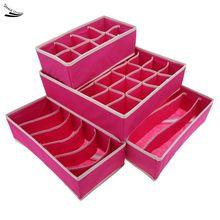 4pcs/set Drawer Dividers Closet Organizers Bra Underwear Ties Socks Storage Boxes Drop Shipping 36 - MVP Co., Ltd store
