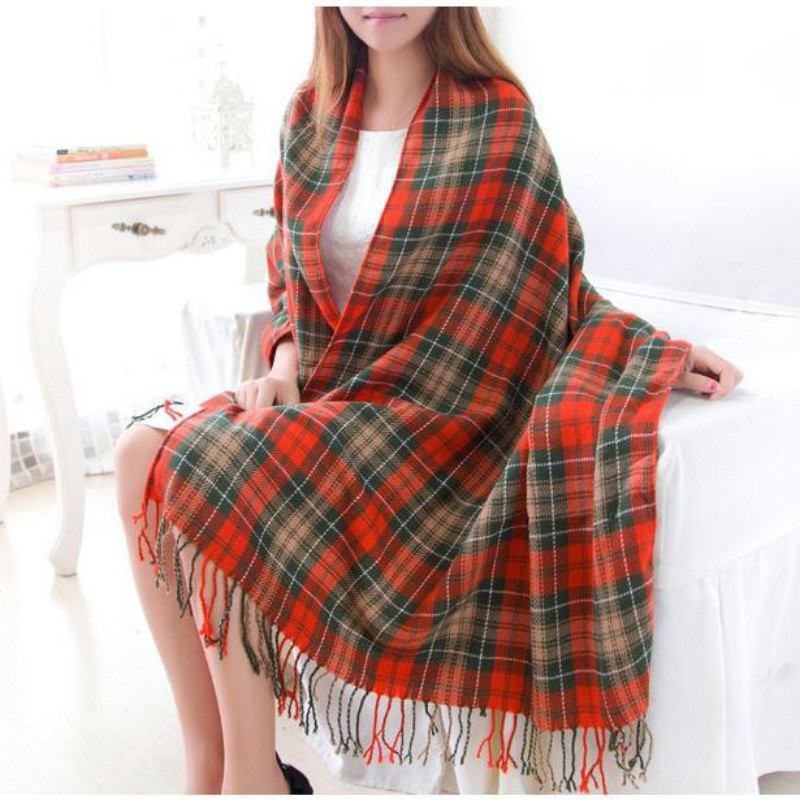 Wool Winter Warm Scarf Women Spain Desigual Scarf Plaid Thick Brand Shawls and Scarves for Female