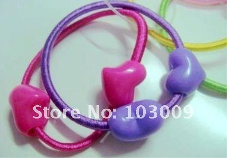 Children candy hair ring cute love cartoon bow fashion hair ring flash hair rope jewelry(China (Mainland))