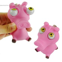 2013 Fashion New Funny Plastic Cute Toys Pig Pop Eyes Pink Drop Shipping (China (Mainland))