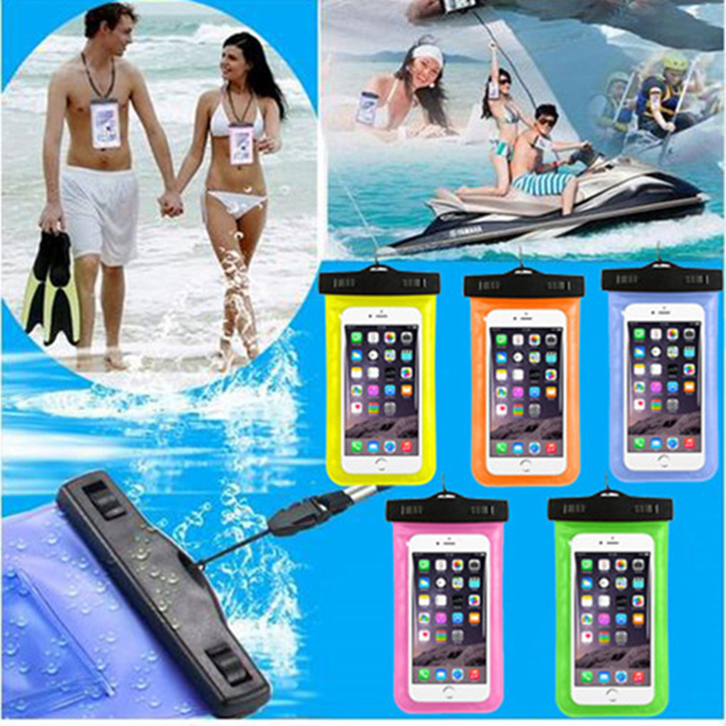 Underwater Phone Bag Case Cover For Samsung Galaxy Note 4 / 5 Universal Waterproof Pouch For Samsung Galaxy Note 1 /2 / 3