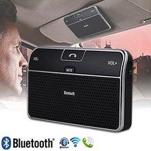 Беспроводная связь Bluetooth 4.0 динамик громкой связи Car Kit мини-стерео с автомобильное зарядное устройство снижения шума поддержка GPS и mp3-аудио с держателем