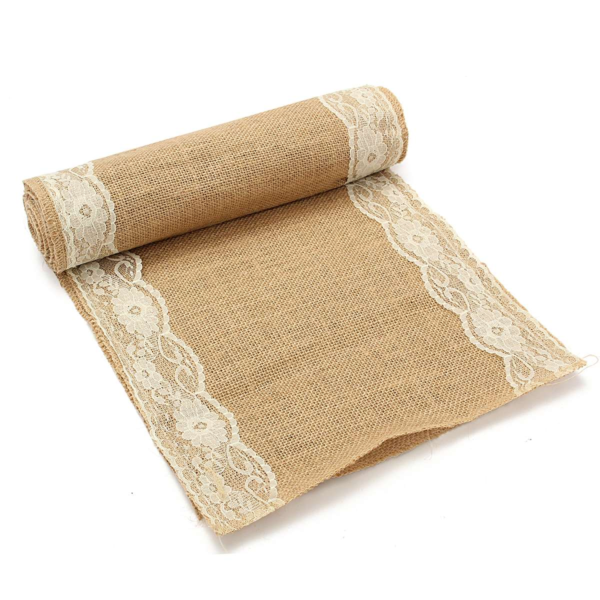 5 Colors Jute Rustic Burlap Lace Table Runner Vintage Rolls Banquet Decoration Household Room House Adornment Textile Fabric(China (Mainland))