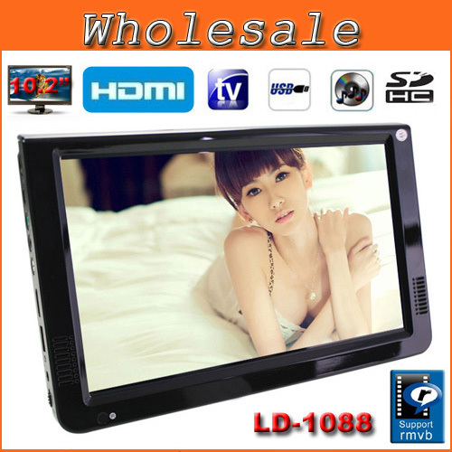 """2014 NEW LEADSTAR Televisions Portable TV 10.2"""" TFT Portable Multimedia Player With HDMI /VGA /USB /SD,U DISK/TV Tuner(China (Mainland))"""