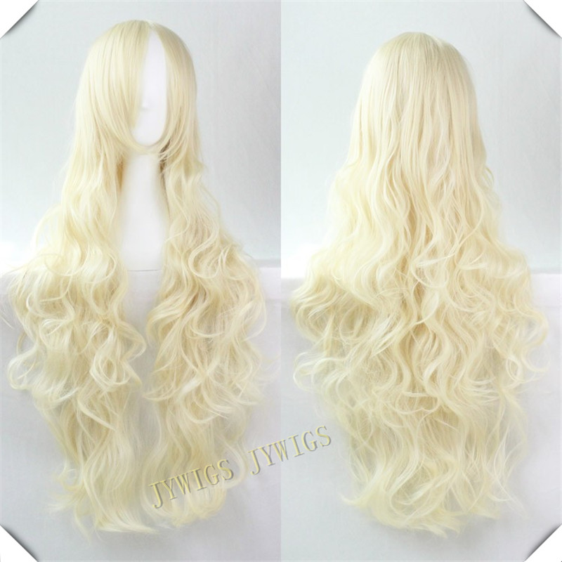 Gradient Lolita Long Curly Synthetic Wigs Harajuku Lolita Anime Ombre Cosplay Hair Sex Wig(China (Mainland))