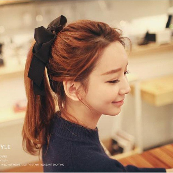 2015 New Fashion Nice Hair Accessories Ribbon Headwear Bowknot Elastic Hair Band for Women cdlz0069(China (Mainland))