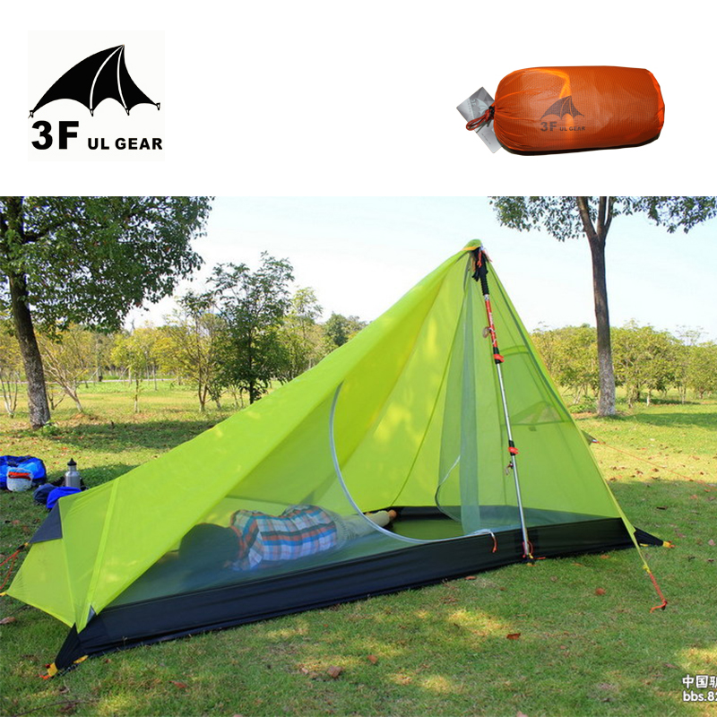 3F UL GEAR 650g Oudoor Ultralight  Camping Tent 3 Season 1 Single Person Professional 15D Nylon Silicon Coating Rodless Tent<br><br>Aliexpress