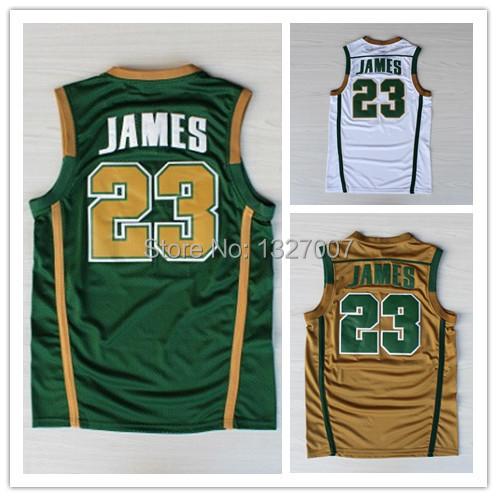 IRISH #23 Lebron James white green yellowish brown REV 30 Brand Basketball jersey Embroidered lgos cheap shorts - Fashion online shopping paradise store
