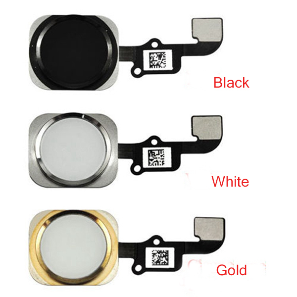 For Apple iphone 6 6G Home Button Flex Cable Ribbon Assembly Gold Black White With tracking Number Free Shipping(China (Mainland))