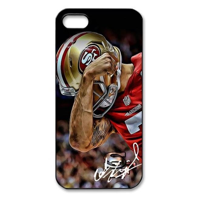Wholesale 10pcs/lot Men San Francisco 49ers Colin Kaepernick Custom Hard Plastic Mobile Phone Case Cover For Iphone 4 4S 5 5S 5C(China (Mainland))