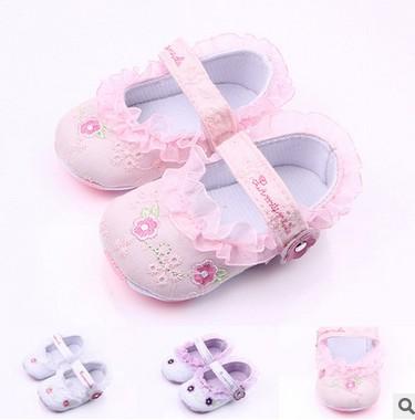 Girl princess Prewalker soft soled casual font b shoes b font children first walkers child dance
