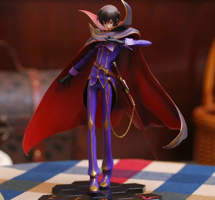 Free Shipping Anime Code Geass R2 Lelouch Lamperouge Zero 1/8 PVC Action Figure Collection Model Toy 24.5cm OTFG089(China (Mainland))