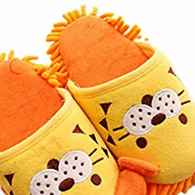 5pcs( Winter Warmth Household Warmth Plush Slippers, yellow lion<br><br>Aliexpress