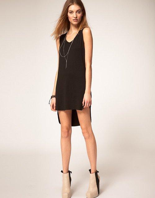 2013 new asymmetrical little black dress party lbd backless sexy dress