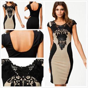 Ladies stretch lace dresses