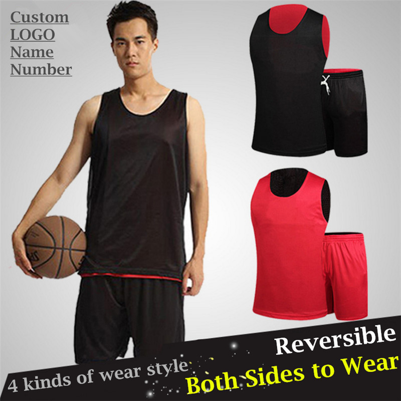 Personalized Custom LOGO&Name&Number Pro Basketball Jerseys Sets,Mesh Quick-dry Reversible Both Sides to Wear (T-shirt+Shorts)(China (Mainland))
