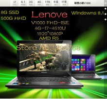 14  inch ultrabook Lenovo V1000 FHD-ISE laptop computer Intel Core I7  3.1GHZ 4GB 1TB  HHD WIFI windows 8.1 laptop notebook 14(China (Mainland))