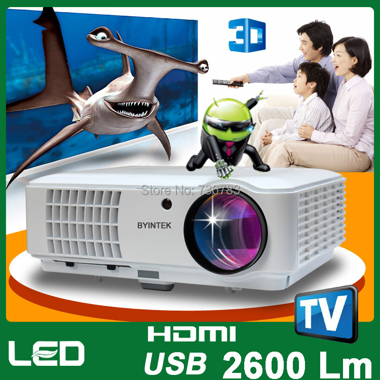 200inch Android 4.1 OS Wifi Game 3D Video LCD LED Projector 1080P Full HD Home Theater TV Tuner(China (Mainland))