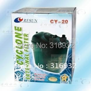 Y7 Free shipping! RESUN Cyclone External Filter CY-20 aquarium canister,1pc