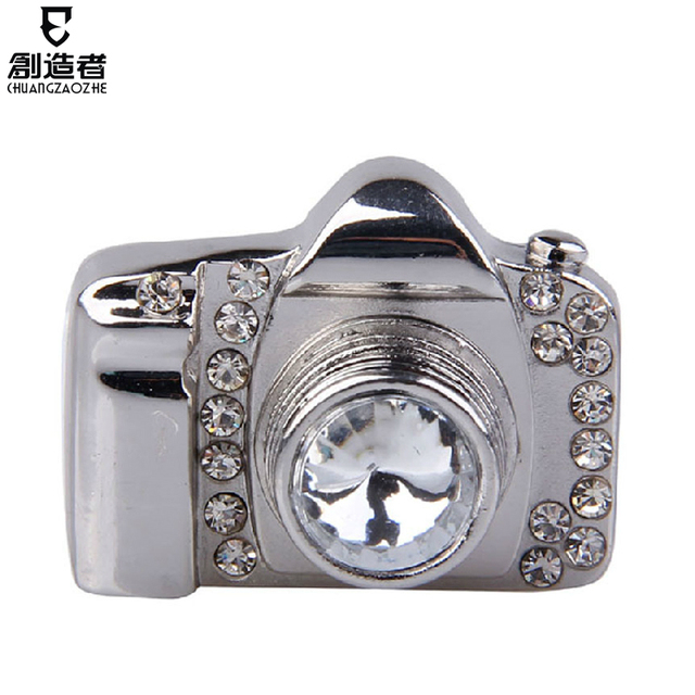Usb flash drive fashion crystal 4g slr camera usb flash drive rhinestone usb flash drive