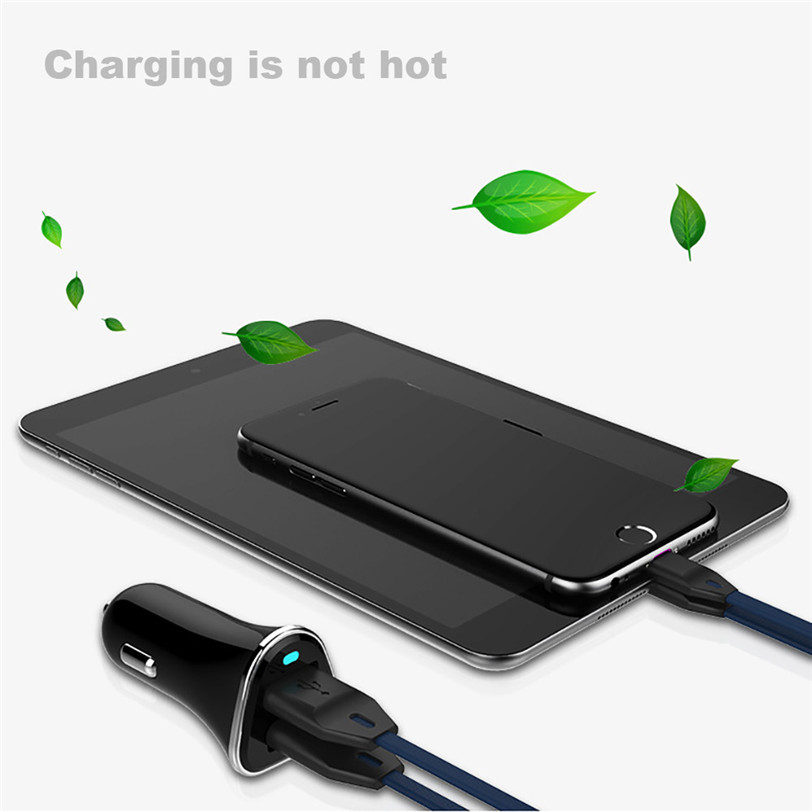 2017 new 2.4A Fast Charging Dual USB Ports Car Charger For Smart Phone Tablets car-styling high quality(China (Mainland))
