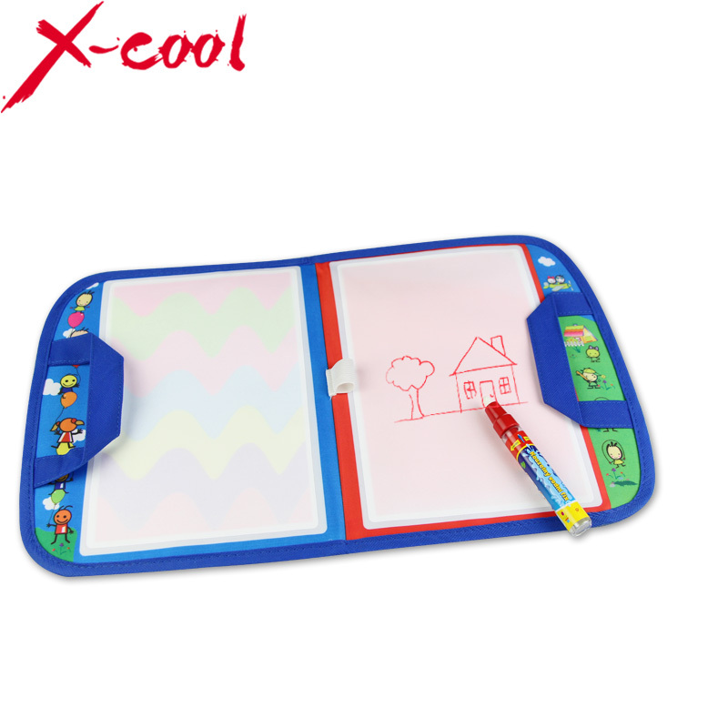 Free shipping xc8849nc 46X29.5cm Magic Water Doodle Mat with1 Magic Pen/ water doodle bag/drawing board/drawing rug(China (Mainland))