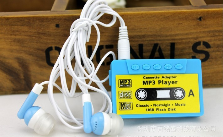 Wholesale Quality Retro Cassette Mini MP3 Music Player with TF Card Slot for leisure (no accessories)(China (Mainland))