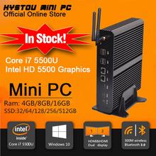 New Intel 5th Gen Core i7 5500U Mini PC Windows 8.1 Mini Computer Windows 10 compatible Minipc 4K HD HTPC TV box 2* HDMI 2* LAN(China (Mainland))
