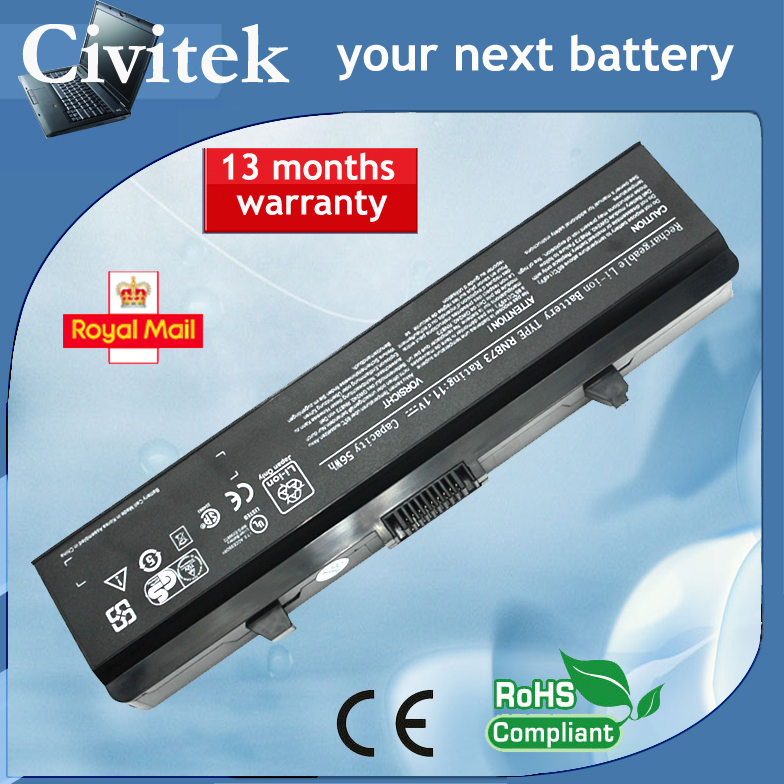 Battery for Dell Inspiron 1525 1526 1545 GW240 HP297 M911G RN873 11.1V 56Wh<br><br>Aliexpress