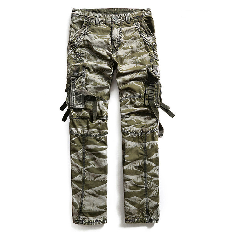 2016 autumn New Casual Men Pants Loose Multi Pockets Camouflage pants Men's Army Overall military cargo men - Bruce Store store