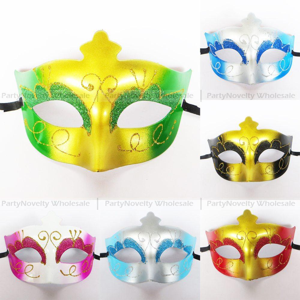 30pc Half face cheap Masquerade Mask Hand Drawing Venetian Party Mask 6 color mix(China (Mainland))