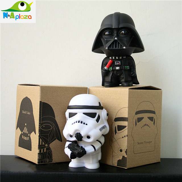 Q version of Star Wars 7 Figures toy Darth Vader doll white knight 10cm Black Knight