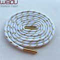 Weiou Sports colored boot laces metallic gold shoelaces white round shoelaces trainer laces125cm 49