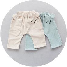 2016 baby girls boys summer cotton harem pants newborn toddler lovely bear pants(China (Mainland))