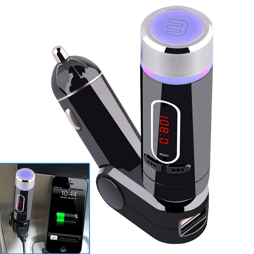 Handsfree Car MP3 FM Modulator Wireless PLL Bluetooth Car Kit MP3 Player FM Transmitter 2015 Transmissor FM Veicular Transmisor(China (Mainland))