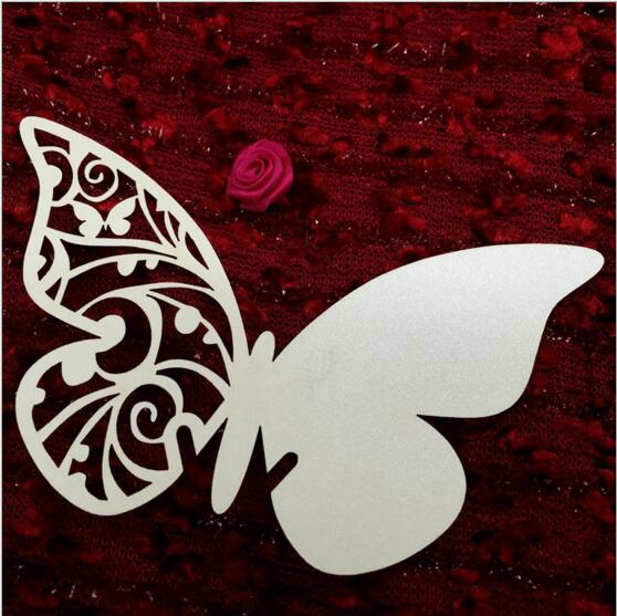 50pcs/set free shipping Wholesale Butterfly Name Place Card Holder Wedding Party Table Wine Glass Decoration Party Decors Event(China (Mainland))